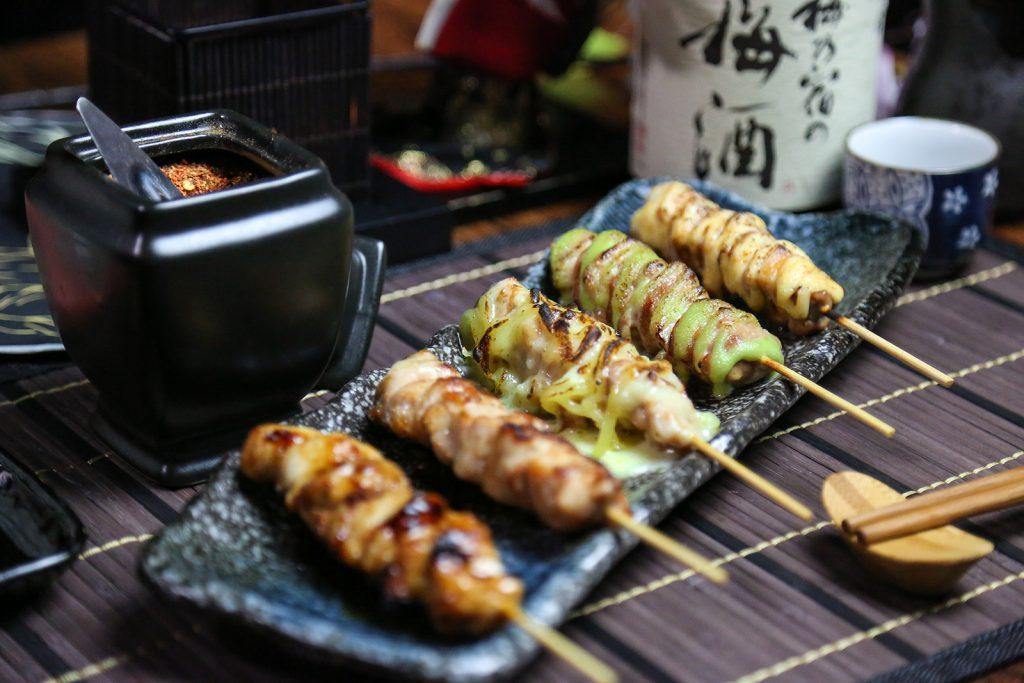 chicken yakitori platter
